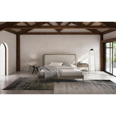 Edmond Queen Upholstered Platform Bed - Raw