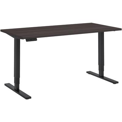 """Move 80 Series 60""""W x 30""""D Height Adjustable Standing Desk in Storm Gray with Black Base"""