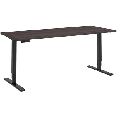 """Move 80 Series 72""""W x 30""""D Height Adjustable Standing Desk in Storm Gray with Black Base"""