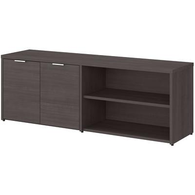Jamestown Low Storage Cabinet with Doors and Shelves - Storm Gray