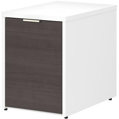 Jamestown Small Storage Cabinet with Door - White/Storm Gray
