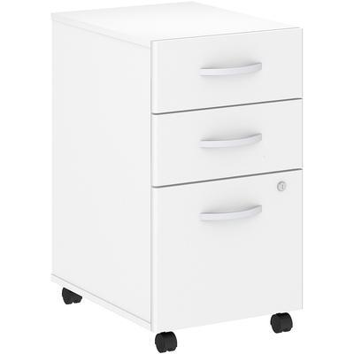 Studio C 3 Drawer Mobile File Cabinet in White