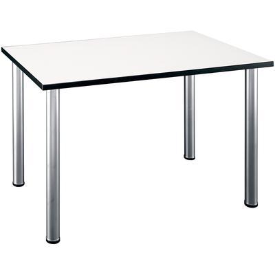 "Aspen Tables 48""W x 28-1/2""D Rectangle Table in White Spectrum"