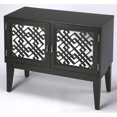 Cosmopolitan Ursula Brown Mirrored Console Cabinet