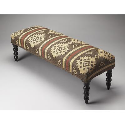 Accent Seating Navajo Jute Upholstered Bench