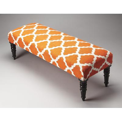 Accent Seating Lyon Cotton Upholstered Bench