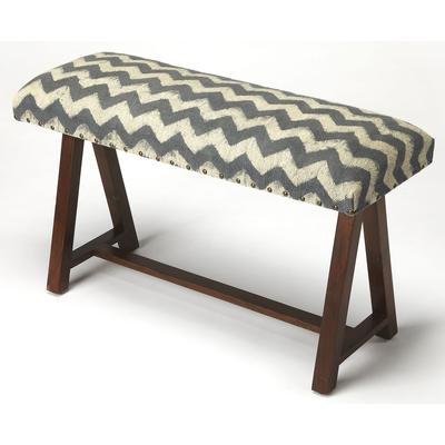 Accent Seating Keating Zig Zag Upholstered Bench