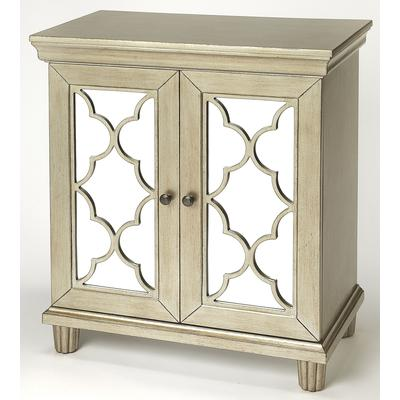 Masterpiece Jocelyn Silver Accent Cabinet