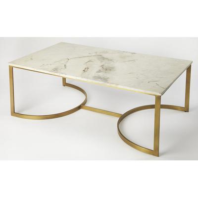 Butler Loft Corsini Marble and Metal Coffee Table