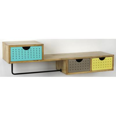 Industrial Chic Motley Modern Storage Wall Shelf