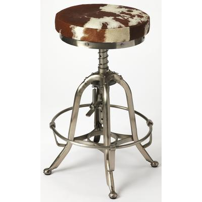 Industrial Chic Donovan Hair-on-Hide Barstool