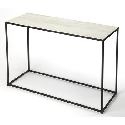 Butler Loft Phinney Marble and Metal Console Table