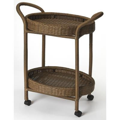 Designer's Edge Pevita Rattan Serving Cart