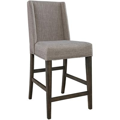 Double Bridge Upholstered Counter Chair