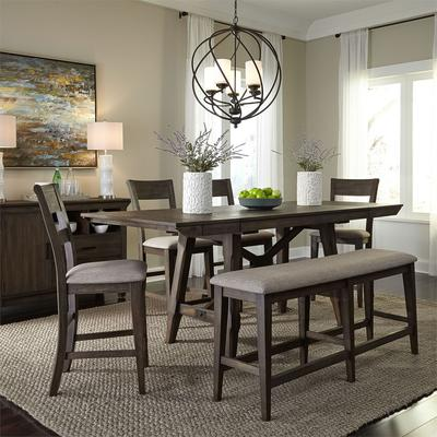 Double Bridge 6-Piece Gathering Table Set