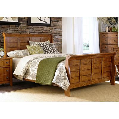 Grandpa's Cabin Queen Sleigh Bed
