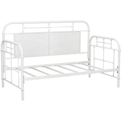 Vintage Twin Metal Day Bed - Antique White