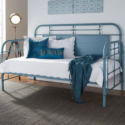 Vintage Twin Metal Day Bed - Blue