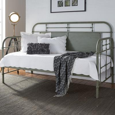 Vintage Twin Metal Day Bed - Green