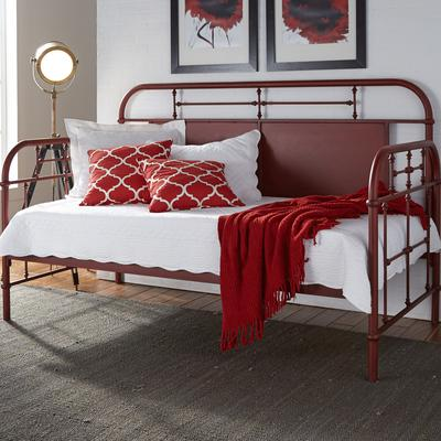 Vintage Twin Metal Day Bed - Red