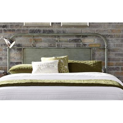 Vintage Queen Metal Headboard - Green