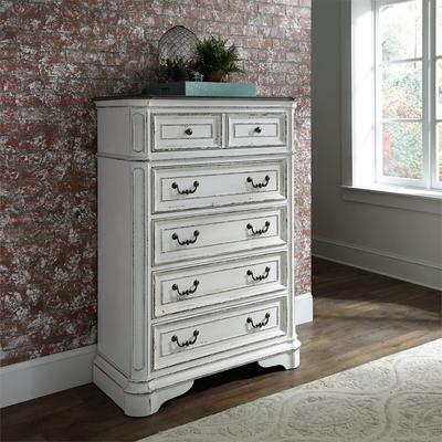Magnolia Manor 5-Drawer Chest - Antique White