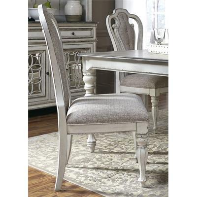 Magnolia Manor Splat Back Upholstered Side Chair - Antique White