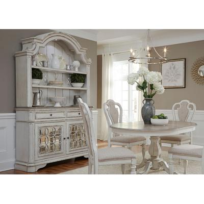 Magnolia Manor Hutch & Buffet - Antique White