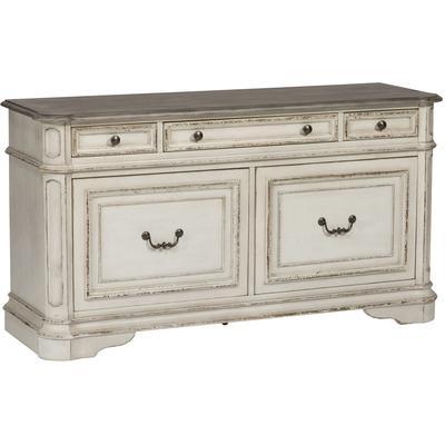 Magnolia Manor Credenza - Antique White