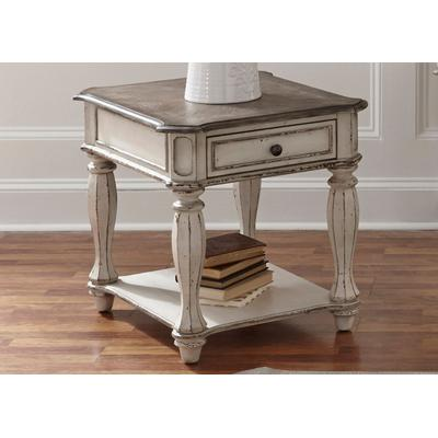Magnolia Manor End Table - Antique White