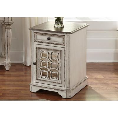 Magnolia Manor Chair Side Table - Antique White