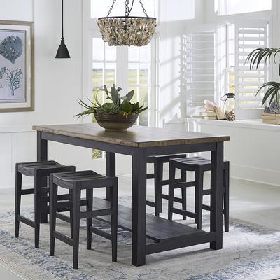 Color Nook 5-Piece Gathering Table Set - Black