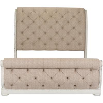 Abbey Park King Upholstered Sleigh Bed