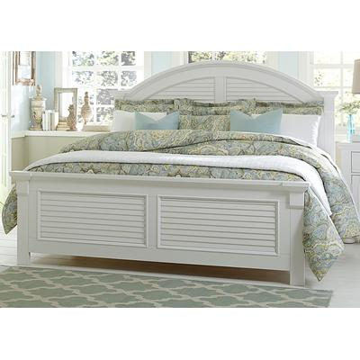 Summer House I Queen Panel Bed - Oyster White