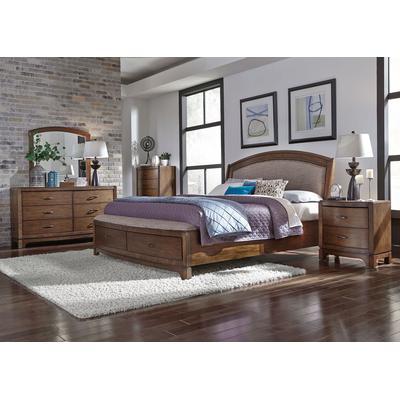 Avalon 5-Piece Queen Upholstered Storage Bedroom Set