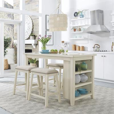 Brook Creek 5-Piece Counter Height Dining Set - White