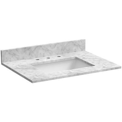 """31"""" Marble Vanity Top in Carrara White"""