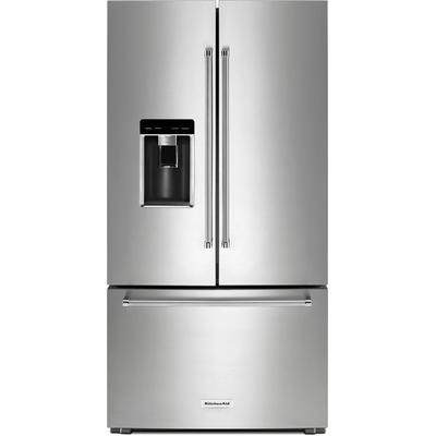 "23.8 cu. ft. 36"" Counter-Depth French Door Platinum Interior Refrigerator with PrintShield Finish"