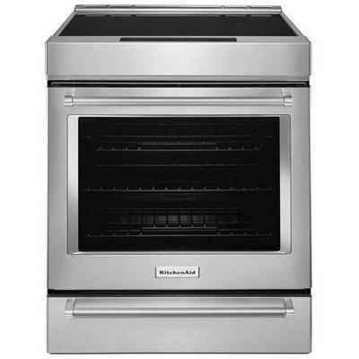 """30"""" 4-Element Induction Slide-In Convection Range with Baking Drawer"""