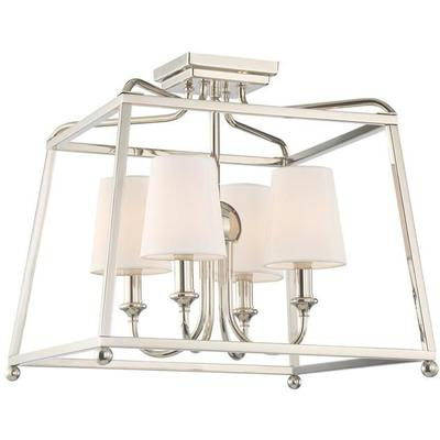 Sylvan 4-Light Ceiling Mount - Polished Nickel