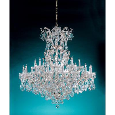 Maria Theresa 25-Light Chandelier with Hand-Cut Crystal - Polished Chrome