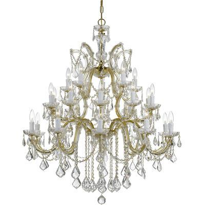 Maria Theresa 26-Light Chandelier with Swarovski Strass Crystal - Gold