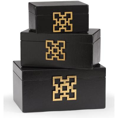 Hampton Boxes (Set of 3) - Coal