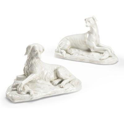 White Dogs Figurines (Pair)