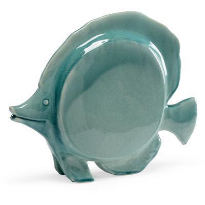 Large Fish Figurine - Celadon