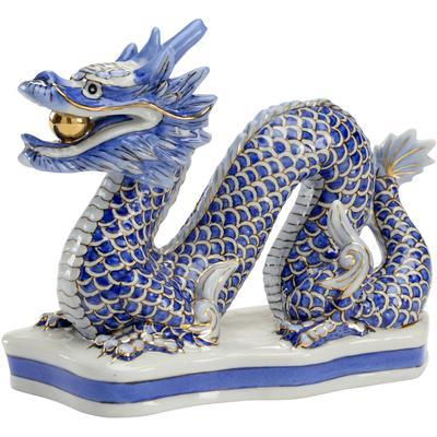 Blue Dragon Figurine