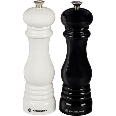 "Salt and Pepper Mill Set [8 "" x 2 1/2"" each] - Black/White"