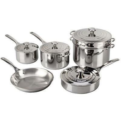 10 Piece Tri Ply Stainless Steel Cookware