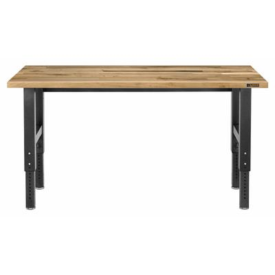 6' Adjustable Height Hardwood Workbench - Hammered Granite