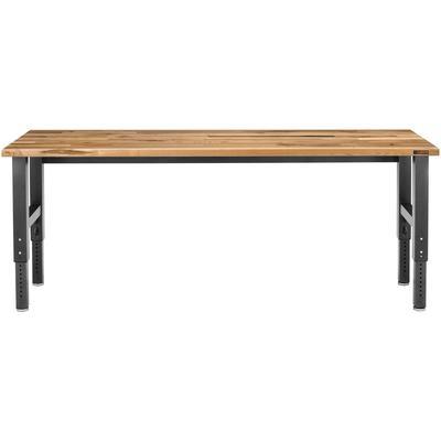 8' Adjustable Height Hardwood Workbench - Hammered Granite